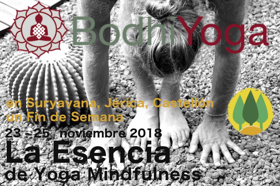 La Esencia de Yoga Mindfulness, un Fin de semana con Bodhiyoga