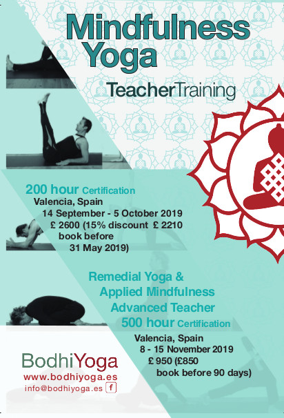 500 hours Advanced Mindfulness Yoga Teacher CPD Training (en inglés)