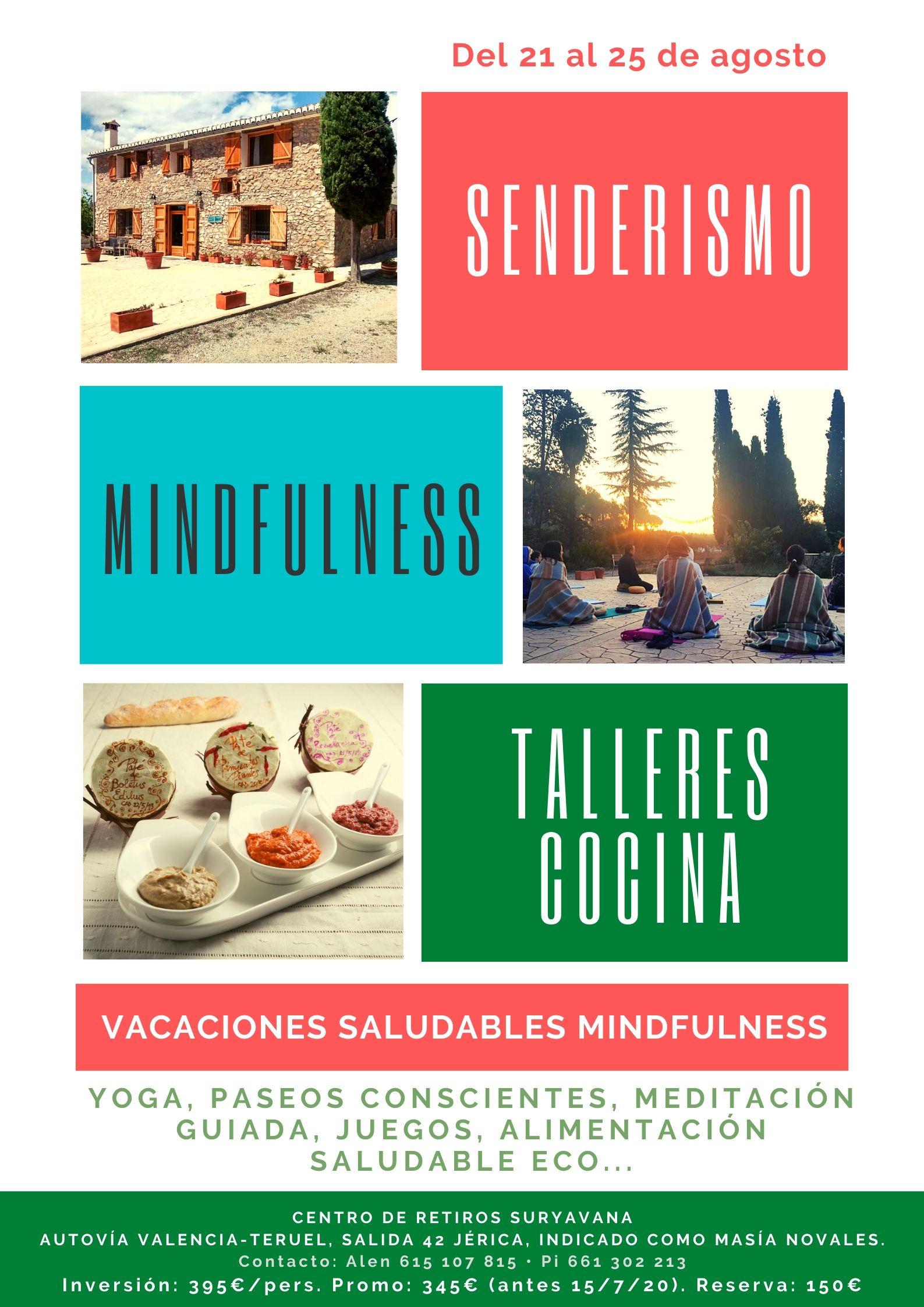 VACACIONES MINDFULNESS Y ALIMENTACIÓN SALUDABLE