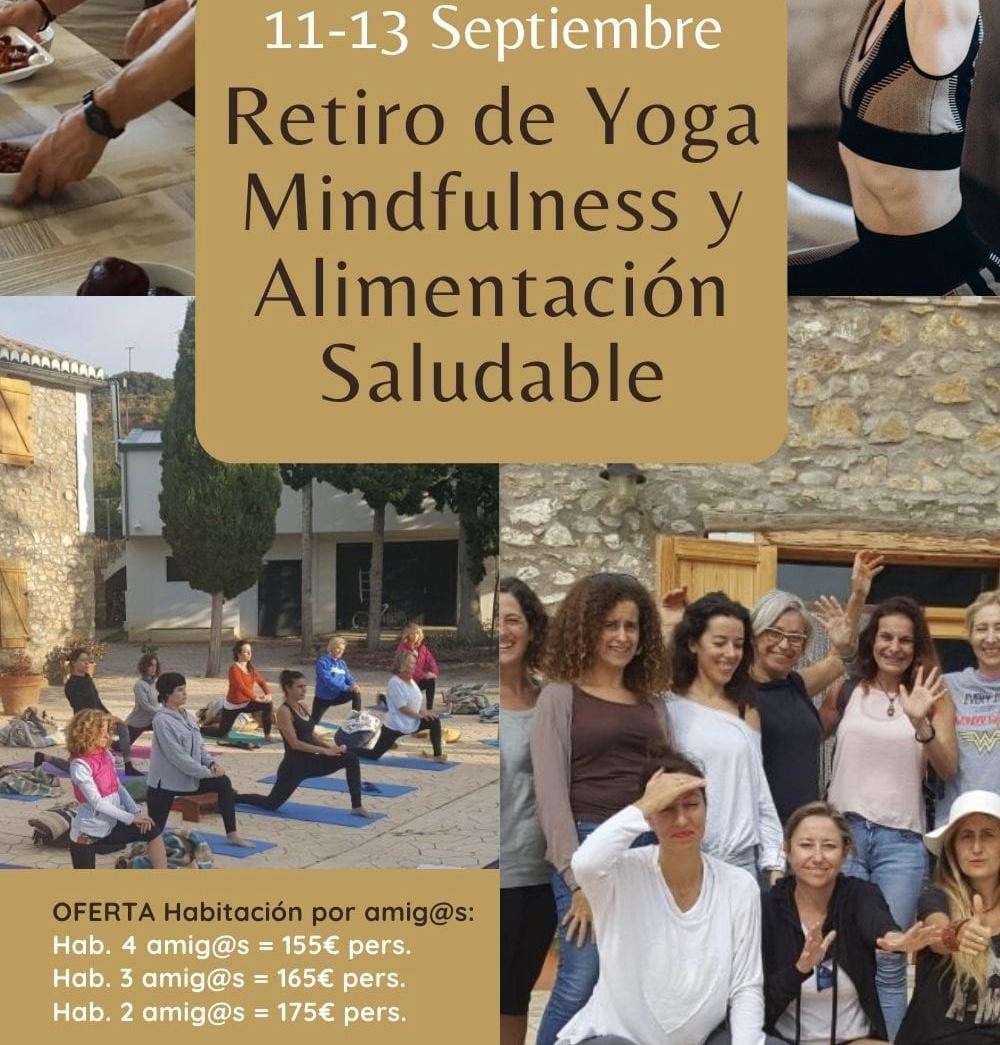 Retiro de Yoga Mindfulness y Alimentación Saludable